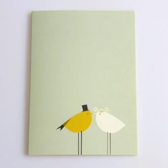 Grußkarte Vogelhochzeit