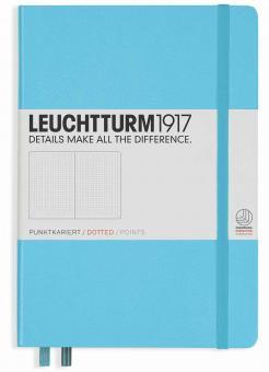 """Leuchtturm1917 Notizbuch """"M"""" ice blue dotted"""