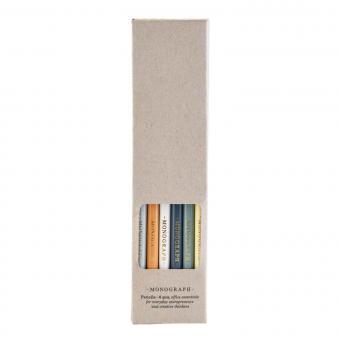 Bleistiftset von Monograph | Sechs sortierte Bleistifte in Box