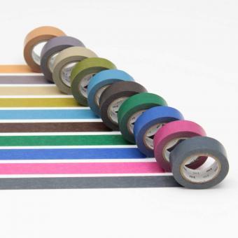 mt Masking Tape: dark color 2 - dunkle Farben