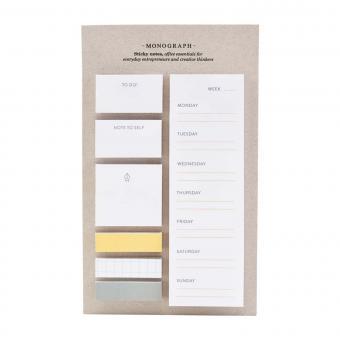 Sticky Notes von Monograph   Post it's in verschiedenen Größen