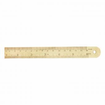 Lineal aus Messing kurz von Monograph | 15 Zentimeter Länge