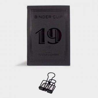 Binder Clips schwarz - Schöne Büroklammern aus Stahl 19mm