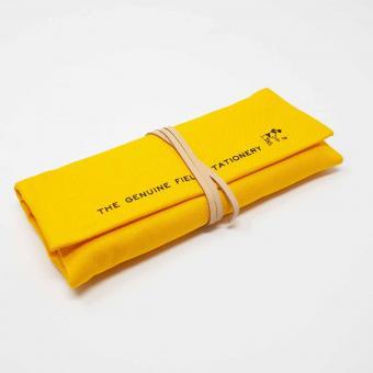 Federmäppchen | Stifterolle aus Leinen gelb