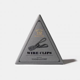 Wire Clips schwarz - Schöne Büroklammern aus Stahl