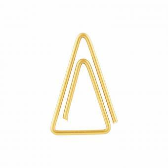 Büroklammern Triangle von Monograph | Clips aus Eisen mit Messing beschichtet