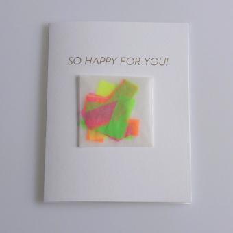 Grußkarte SO HAPPY FOR YOU!