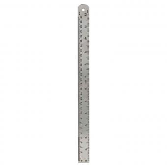 Lineal aus Messing groß von Monograph silber-finish | 30 Zentimeter Länge
